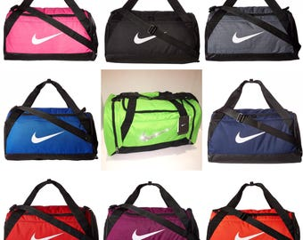 Bling Nike Brasilia Training Duffel Gym Bag with Swarovski Crystal Bedazzled Swoosh * Medium