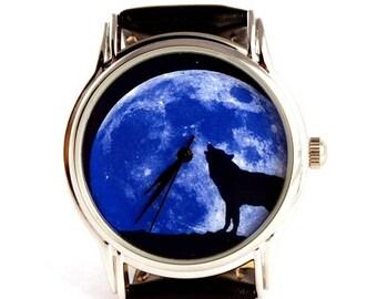 ON SALE 25% OFF Moon wolf watch wristwatch