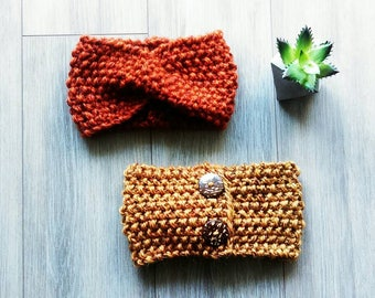 Turban Headband with Coconut Buttons
