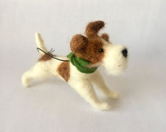 Bearded Jack Russell Terrier Dog Ornament