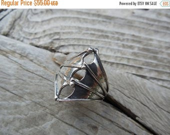 ON SALE Vampire bat wings ring in sterling silver