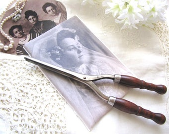 Vintage Curling Iron Victorian 1920s Antique Hair Tongs from AllieEtCie
