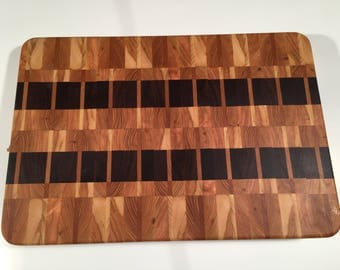 Hard wood end grain cutting board