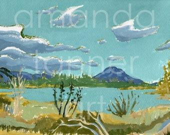 Acrylic Painting Landscape Print Landscape Art Colorado Painting Acrylic Painting Landscape Art Print painting art