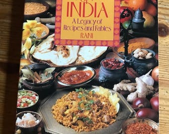 1991 Feast of India a legacy of recipes and fables by Rani old paperback 262 pages