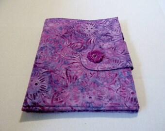Lavender Floral Batik iPad Cover