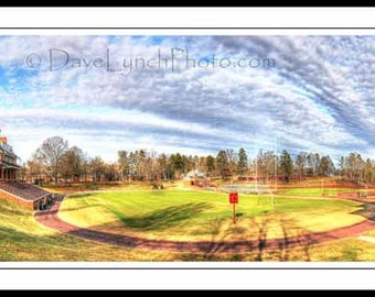 Farmville VA Virginia - Hampden Sydney College - Everett Stadium - Fulton Field - Ty Cobb Ballpark - Art Photography prints by Dave Lynch