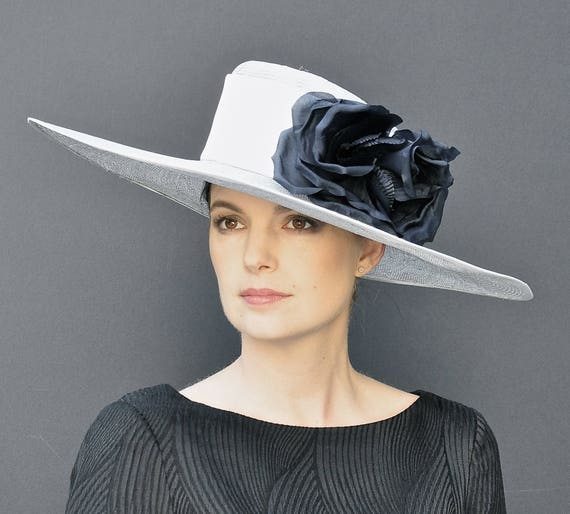 Kentucky Derby Hat, Wedding Hat, Church Hat, Wide Brim Hat, Formal Hat, Ladies Dressy Hat, Big Hat