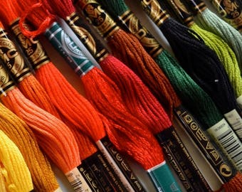 Embroidery Floss, DMC Floss, 3072 through 3865, Add'l Colors See Link in Description, Punch Needle, Penny Rugs, Sewing Accessory