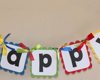 Mickey Mouse Clubhouse Birthday Banner with Name