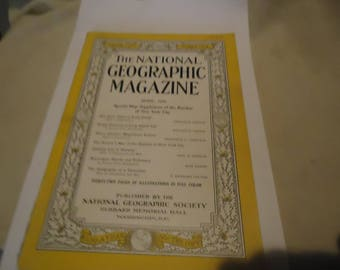 Vintage The National Geographic Magazine April 1939 Vol LXXV Number Four, Coca Cola Ad On Back,  collectable