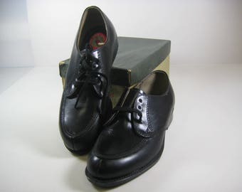 Vintage Red Goose Youth Toddler Oxfords Black Leather Shoes Size 13