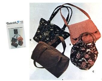 Vintage Purse Pattern Retro Handbag Pattern Pocketbook Pattern Butterick 4520 Sewing Pattern Handbag Package Uncut Pattern Four Super Shapes