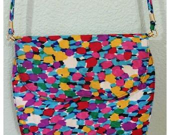 1980's j. Renee, crossbody, clutch, colorful purse