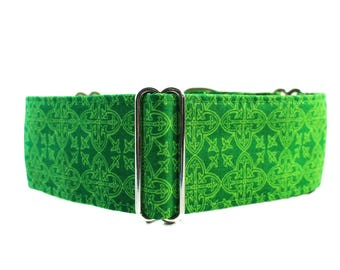 2 Inch Martingale Collar, St. Patricks Martingale Collar, Celtic Martingale Collar, St. Patricks Dog Collar, Celtic Dog Collar