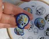 Made to order - tiny starry night skulls