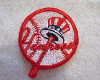 New York Yankees Embroidered Iron On Patch, New York Yankees, Baseball Patch, Iron On Patch, New York Yankees Baseball Patch