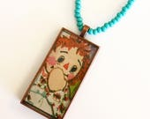 Raggedy Ann Storybook Pendant Necklace