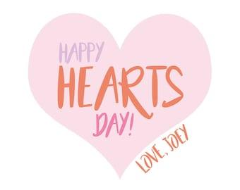 Large Heart Sticker Multi, Valentine's sticker, Square Stickers, Personalized Stickers, Custom Stickers, Name Stickers, holiday stickers