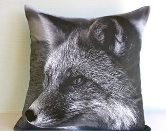 SALE SALE SALE Animal cushion,animal pillow, fox pillow,Fox cushion,decorative pillow eco friendly organic cotton cushion cover, pillow, 16""