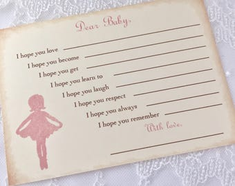 Ballerina Game Cards Dear Baby Activity Cards Pink Set of 10