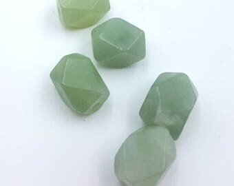Jade Nuggets, Faceted Beads, Natural Gemstone Beads, Faceted Jade Beads, Beads for Jewelry Making, Faceted Jade Bead, Faceted Beads, Jade