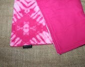 One MEDIUM LARGE Hot Pink Tie Dye small pet blanket- Lap blanket for guinea pigs, hedgehogs, rabbits...