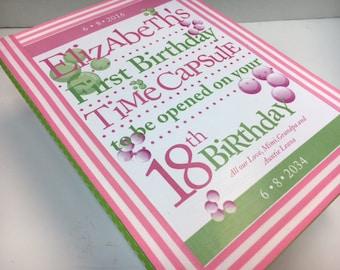 1st Birthday Time Capusule Keepsake box -CUSTOM Designed for Girls and Boys