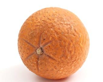 Vintage Hand-Carved Italian Marble Orange