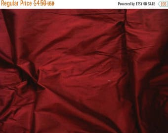 CIJ SALE maroon pure silk dupioni - fat quarter - sld027