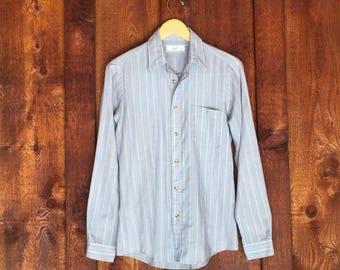 Vintage LEVIS Cotton Striped Shirt • Size Medium