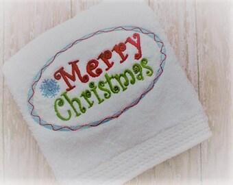 Christmas hand towel | Etsy