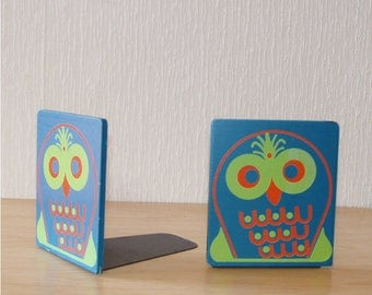 Wise Owl Bookends from the 70s