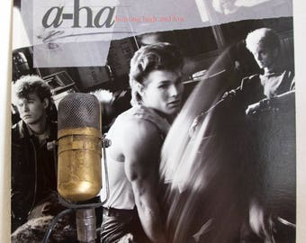 "ON SALE A-Ha (with Morten Harket) Vinyl Record Album Lp 1980s Mtv Norwegian Synthpop New Wave Music ""Hunting High And Low"" (1985 Wb w/ ""Take"