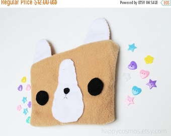 ON SALE - Corgi Zipper Pouch - Pencil Pouch, Pencil Case, School Supplies, Make Up Bag, 3DS Case, Phone Case, Coin Purse