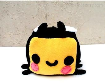 ON SALE - Bee Plush - Kawaii Plush, Stuffed Animal, Bumblebee Softie, Children's Toy, Decorative Pillow, Christmas Plush, His and Hers Gift