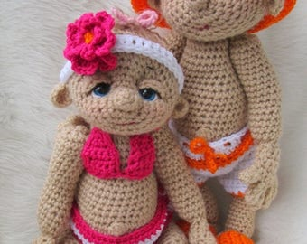 Summer Sale Crochet Pattern Beach Wear Doll Clothes Set for So Cute Baby by Teri Crews Wool and Whims Instant Download PDF Format
