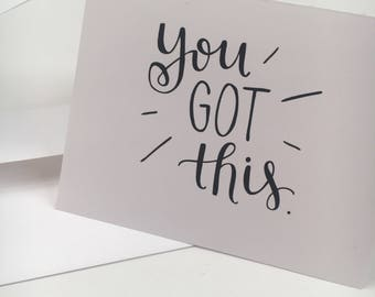 Limited Edition BE THE CHANGE // Hand-Lettered Greeting Card