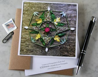 Ode to Wanderlust Mandala ~ One 5x5 Square Note Card (with envelope, blank inside, no message)