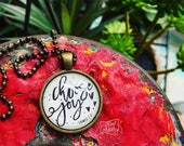 choose joy (James 1:2) necklace