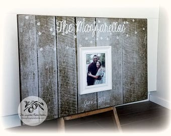 Wedding Guest Book, Guest Book Alternative, Rustic Wedding Guest Book, Guest Book Frame, Guest Book Wedding, 20x30 The Sugared Plums Frames