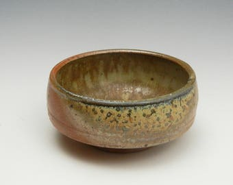 Wood fired bowl with ash glaze