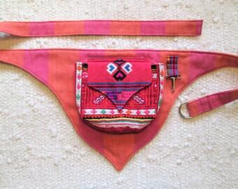 Festival Burning Man Tribal Guatemala Pocket Utility Belt
