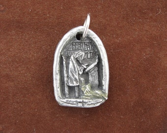 Handmade St. Jerome Medal, Patron of Book Lovers, Librarians, Translators, Bookstore Owners