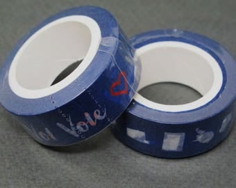Vote! and 50 states washi tape, set of two. Perfect for decorating postcards to your reps or get out the vote writing campaigns.