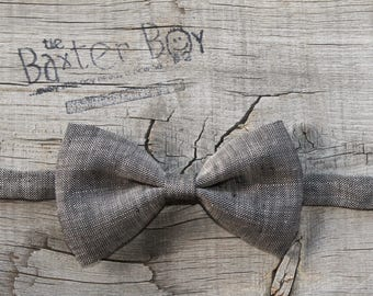 Charcoal Brown bow tie for little boys - photo prop, ring bearer, wedding