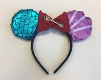 Ariel themed Mickey ears
