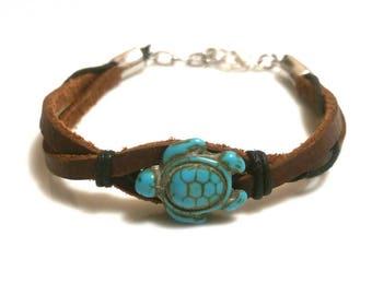 Turtle Bracelet Turtle Jewelry Leather Bracelet Sea Turtle Hawaiian Honu Trending Jewelry Teen Gifts Trending Now Sale Jewelry