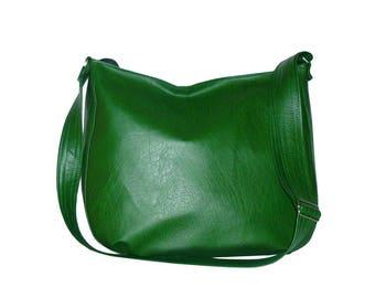 5597, dark green vegan hobo bag, dark green vegan crossbody bag, green hobo bag crossbody, green crossbody bag, green vegan bag, vegan sack