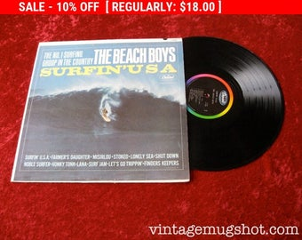 August Vinyl Blow Out 10% OFF Already Low Prices Surfin' USA Beach Boys Original Mono Lp  Vinyl Record  Sixties Surf Surfer Surfing